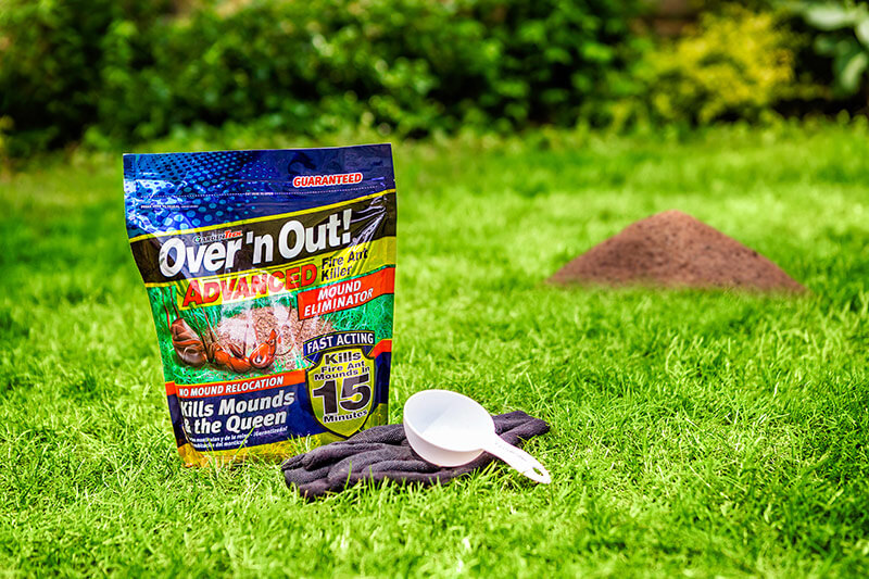 But with GardenTech® Over'n Out!® Advanced Fire Ant products, you can rest easy with guaranteed control and protection for up to six months.